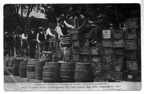 Liquor destruction, Independence, Kansas - Page