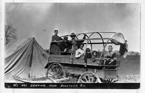 Family camping, Uniontown, Kansas - Page