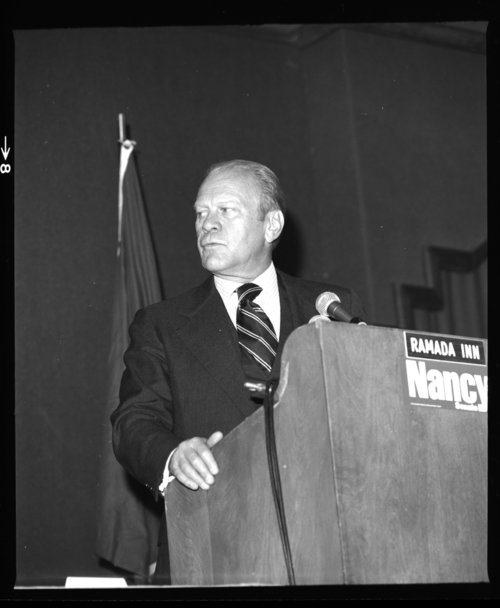 President Gerald Ford at a reception for Nancy Landon Kassebaum, Topeka, Kansas - Page