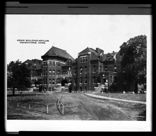 View of the Adair building at the Osawatomie State Hospital, Osawatomie, Kansas - Page