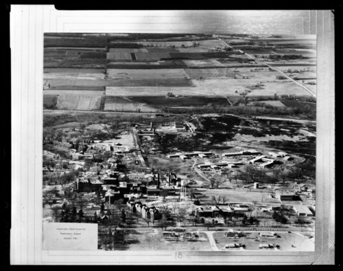 Aerial views of the Osawatomie State Hospital in Osawatomie, Kansas - Page