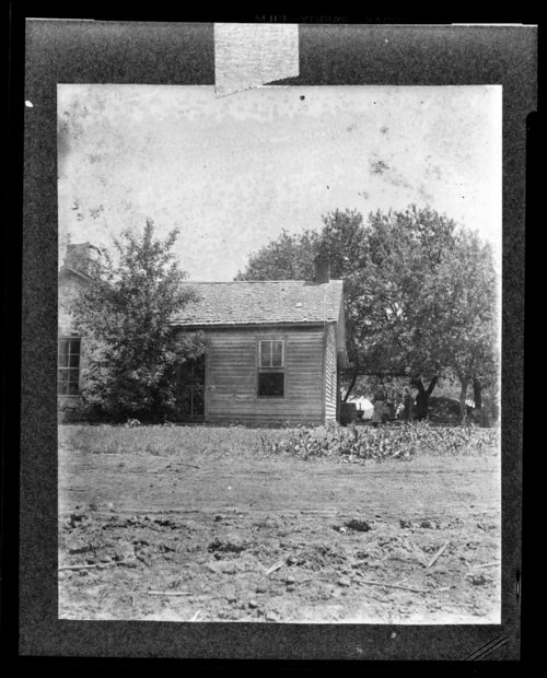Cabin on Kaw Mission grounds, Council Grove, Kansas - Page