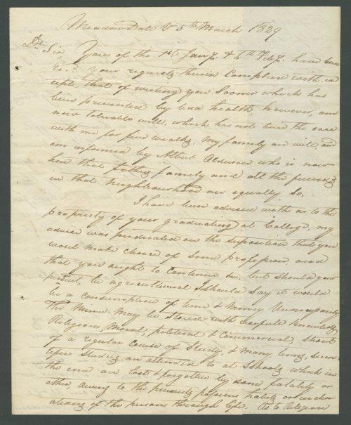 George Alderson to Lewis Allen Alderson - Page