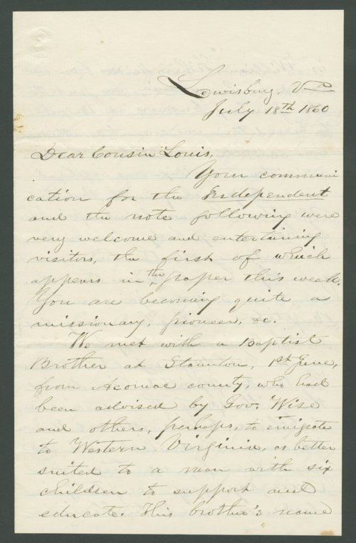 J. G. Alderson to Lewis Allen Alderson - Page