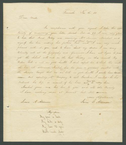 Jane C. Alderson to Lewis Allen Alderson - Page
