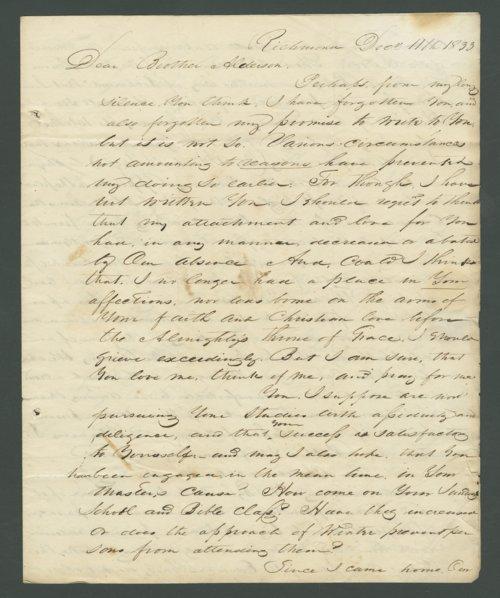 L. W. Allen to Lewis Allen Alderson - Page