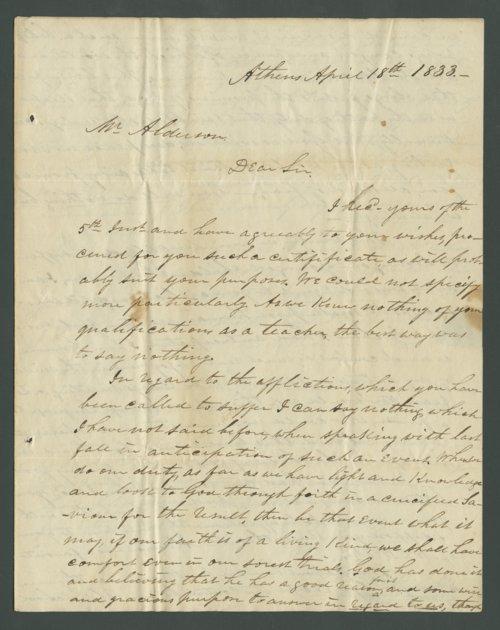 Thomas M. Drake to Lewis Allen Alderson - Page