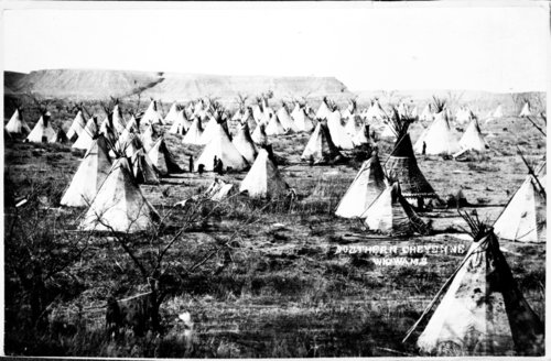Northern Cheyenne village at Fort Laramie - Page