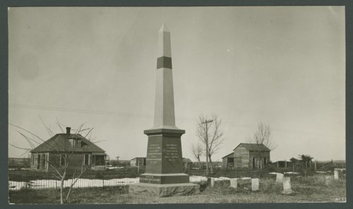 Monument for the victims of the Last Indian Raid in Kansas - Page
