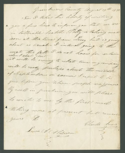 Charles Lewis to Lewis Allen Alderson - Page