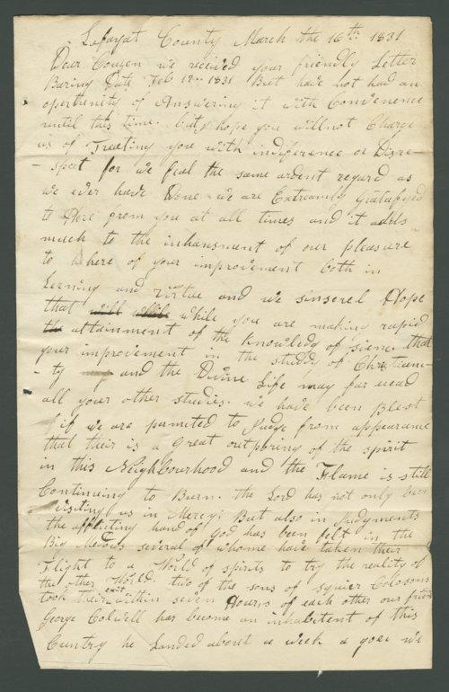 Jasper M. Franklin to Lewis Allen Alderson - Page