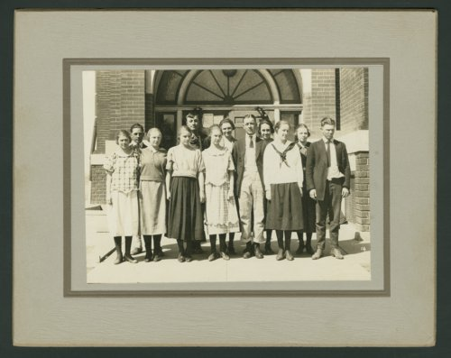 High school students at Chase, Kansas - Page