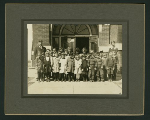 First and second grade students at Chase, Kansas - Page