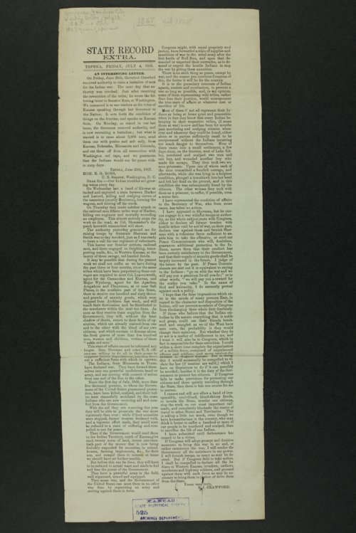 Governor Crawford Indian correspondence - Page
