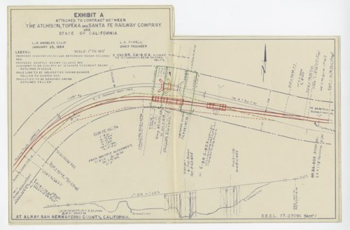 Atchison, Topeka & Santa Fe Railway Company's highway underpass drawings - Page