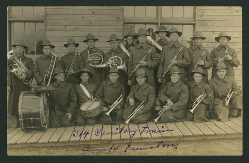 314 Sanitary Train band at Camp Funston - Page