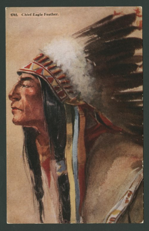 Chief Eagle Feather, Cheyenne Indian - Page