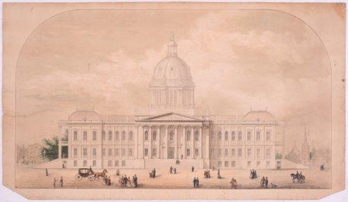 Original drawing for Kansas Capitol Building, Topeka, Kansas - Page