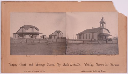 Fairplay Methodist Church, parsonage, and stable in Marion County, Kansas - Page
