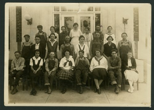 Students at Glasco Rural High School in Glasco, Kansas - Page