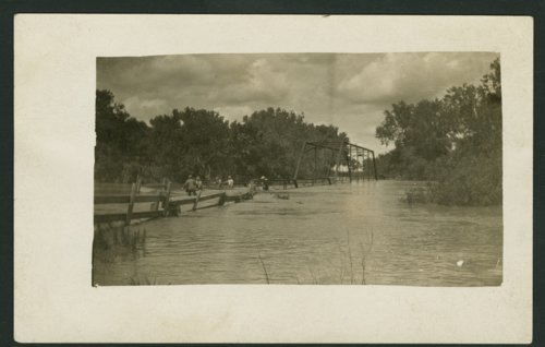 Flood waters on the Solomon River near Glasco, Kansas - Page