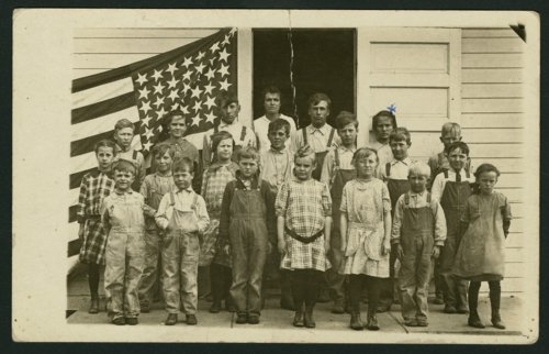 Students at Prairie View School in Cloud County, Kansas - Page