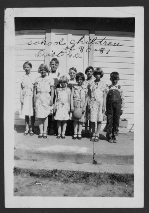 Students at Prairie View School, District 42, Cloud County, Kansas - Page