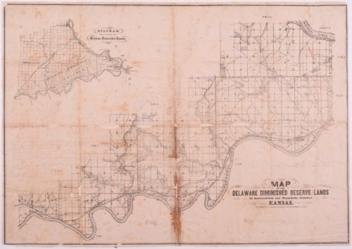 Map of the Delaware diminished reserve lands - Page