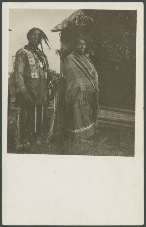 Chief Roman Nose Thunder and his wife - Page