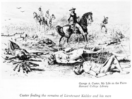 General Custer finding the remains of the Kidder massacre - Page