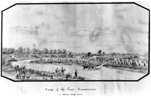 Camp of the Peace Commissioners at Medicine Lodge Creek - Page
