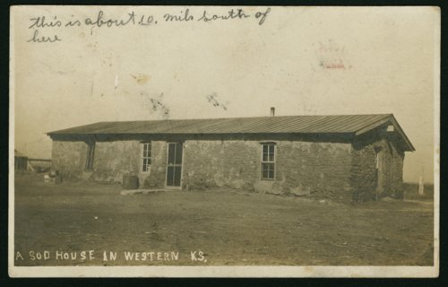 Sod house in Rush County, Kansas - Page