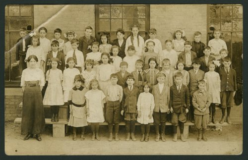 Students at a school in Osage County, Kansas - Page
