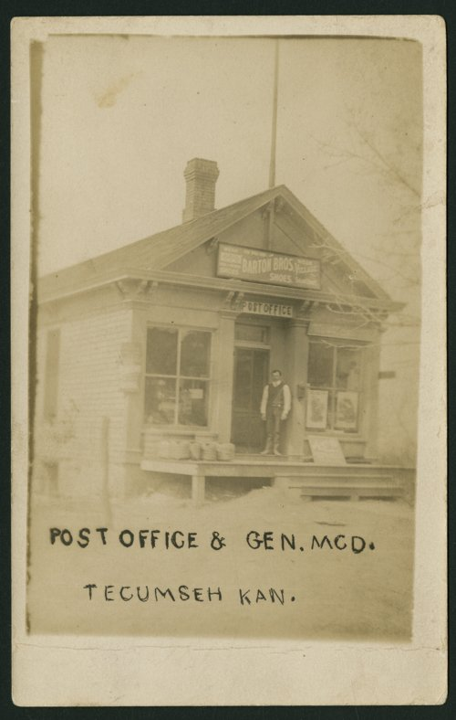Bergman's general store and post office in Tecumseh, Kansas - Page