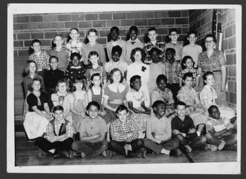 Fifth grade students at Belvoir Grade School in Topeka, Kansas - Page