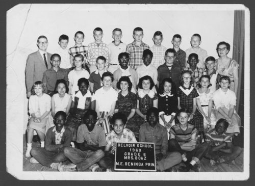Sixth grade students at Belvoir Grade School in Topeka, Kansas - Page