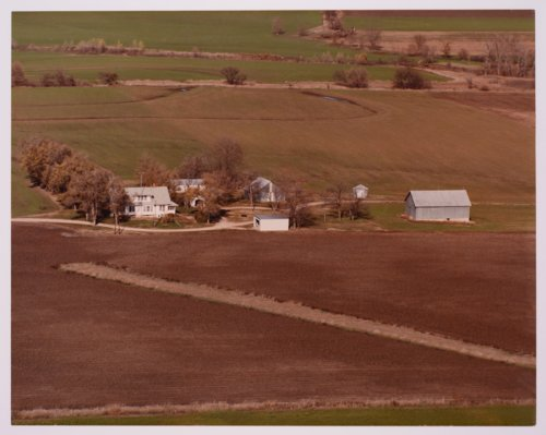 Aerial view of Florence Williams' farm in Morris County, Kansas - Page