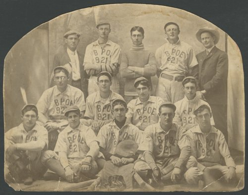 Benevolent and Protective Order of Elks' baseball team in Olathe, Kansas - Page