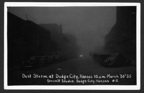 Dust storm, Dodge City, Kansas - Page