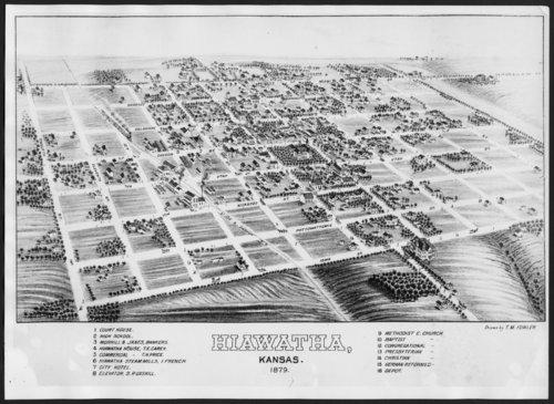 Bird's eye view of Hiawatha, Kansas - Page