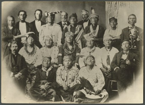 Second Delegation of Osage Indians, Lawrence, Kansas - Page