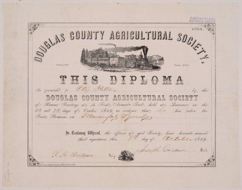 Otis Potter diploma - Page
