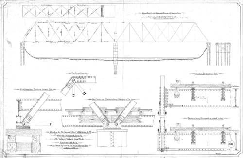 Plans for a railroad bridge over the Ninnescah River, Sedgwick County, Kansas - Page