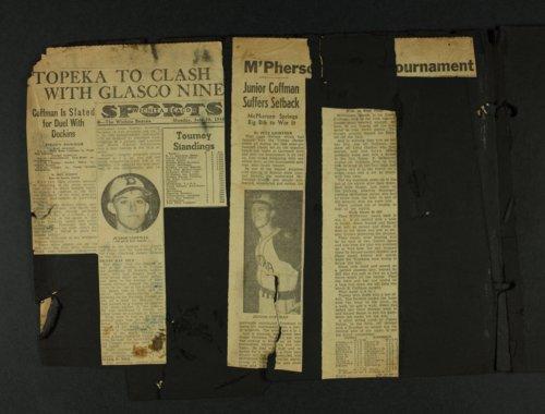 Coffman baseball scrapbooks - Page