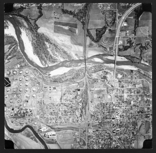 Aerial view of Arkansas City, Kansas - Page