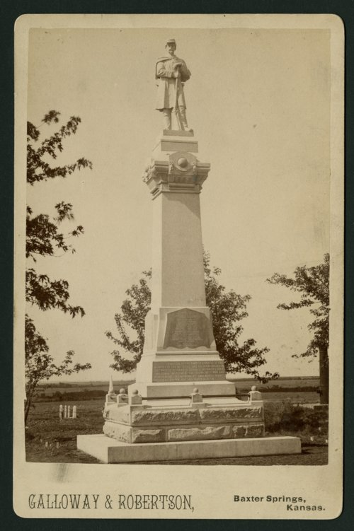 Civil War monument in Baxter Springs, Kansas - Page