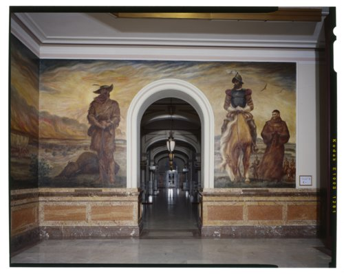 The Frontiersman and the Conquistadors murals - Page