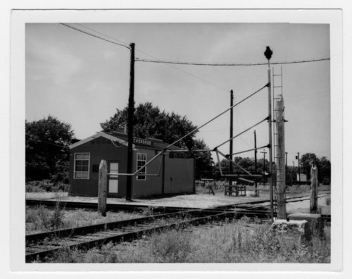 Box depot and railroad crossing, Cherokee, Kansas - Page
