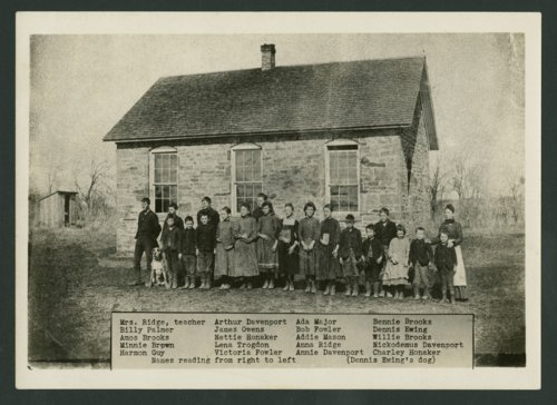 Students at their rural school, Crawford County, Kansas - Page