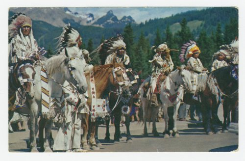 North American Indians on horseback - Page